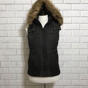 Express Black Vest with Removable Hood  Size